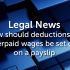 How should deductions for overpaid wages be set out on a payslip?