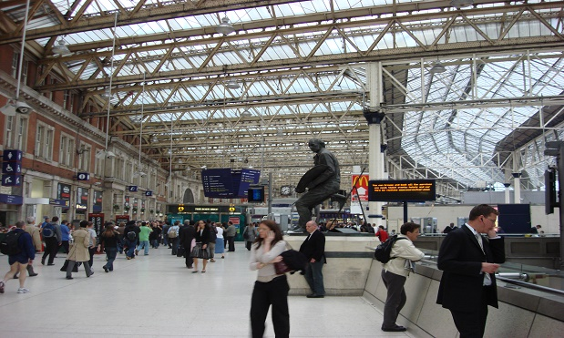 A graduate who found a job in a train station has returned a year later to recruit workers for his new job