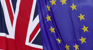 EU and British Flag Image