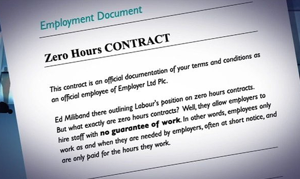 Zero hours contracts image
