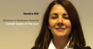 Regional Director, Sandra Hill, has been awarded 'Female Leader of the Year' at the 2015 Women in Business awards.