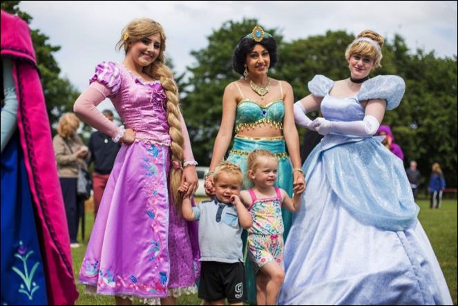 Rapunzel, Princess Jasmine & Cinderella