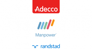 Adecco, Manpower and Randstad the largest staffing firms in the world
