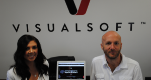 Emma Hart, Visualsoft's HR manager & Dean Benson, CEO