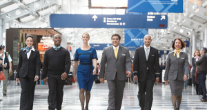 United Airlines scored 73% for a positive interview experience