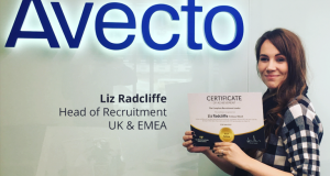 Liz Radcliffe - Global Head of Recruitment at Avecto and Fellow of The British Institute of Recruiters